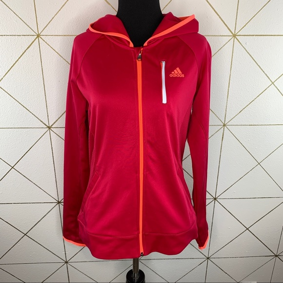 Adidas Women's Hooded Climawarm Track Jacket M